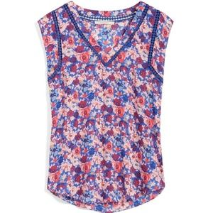 41 Hawthorne Floral Tank Size small